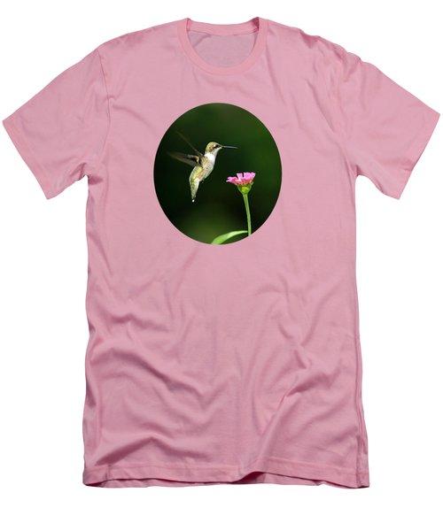 One Hummingbird Men's T-Shirt (Slim Fit) by Christina Rollo