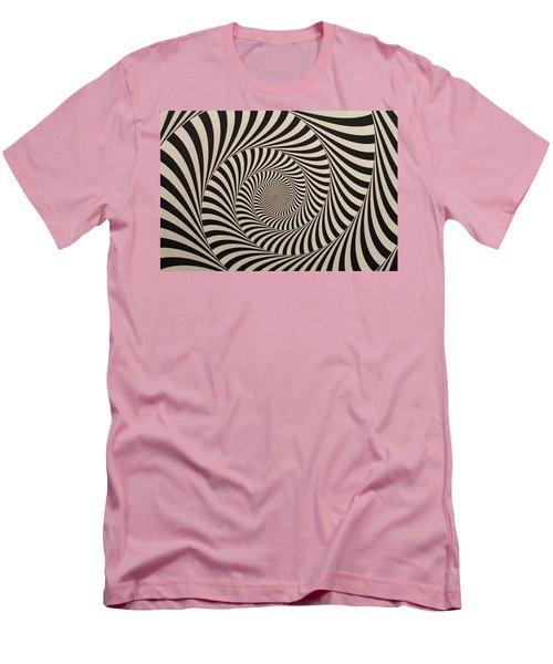 Optical Illusion Beige Swirl Men's T-Shirt (Slim Fit) by Sumit Mehndiratta