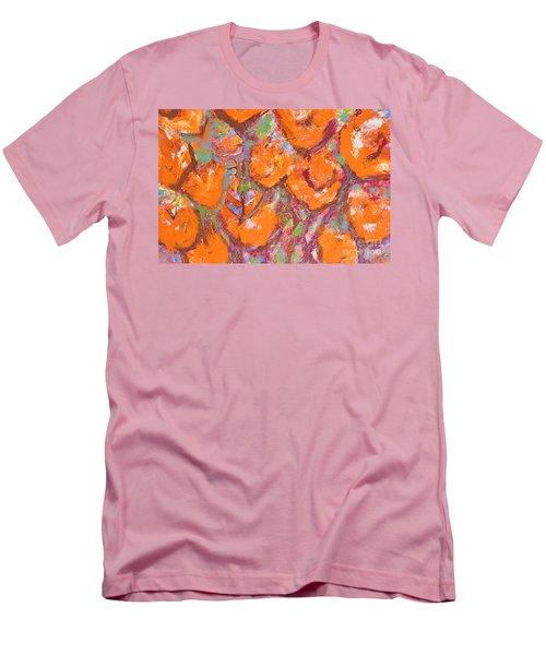 Orange Poppies Men's T-Shirt (Slim Fit) by Gallery Messina