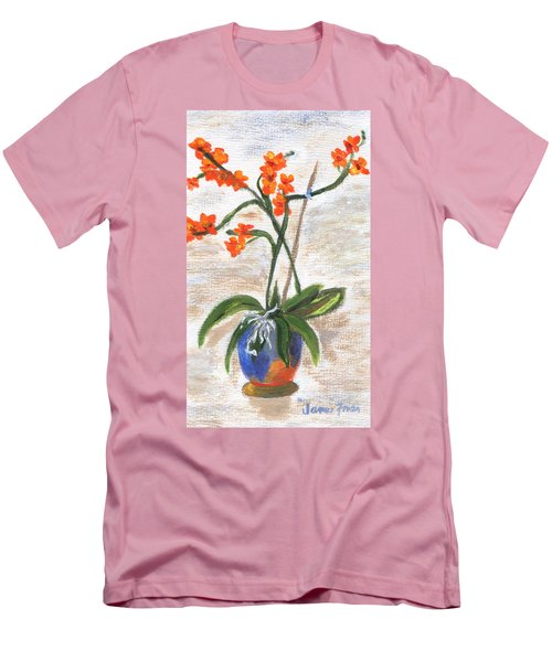 Men's T-Shirt (Athletic Fit) featuring the painting Orchid by Jamie Frier