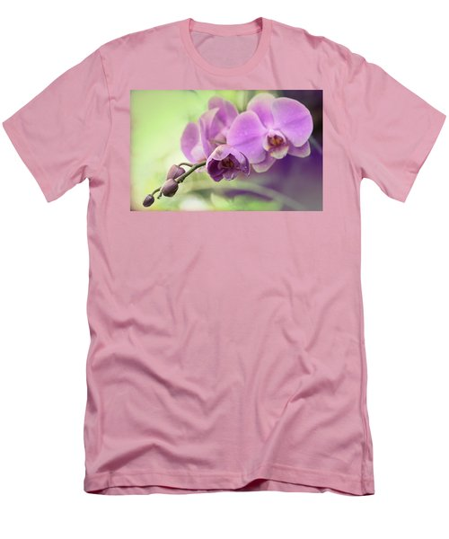 Men's T-Shirt (Slim Fit) featuring the photograph Orchids by Cathy Donohoue