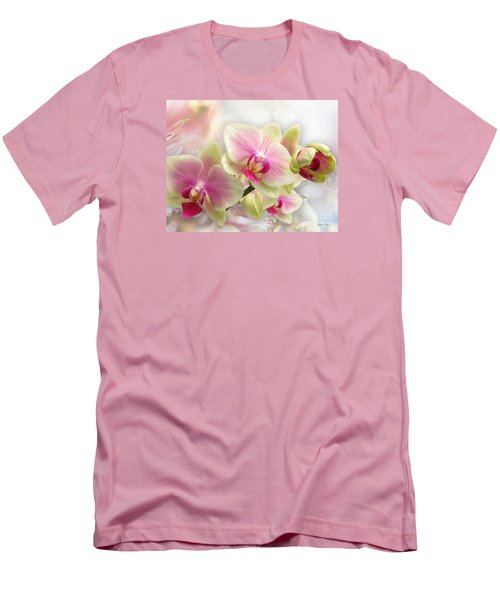 Orchids Men's T-Shirt (Slim Fit) by Morag Bates