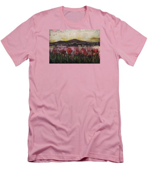Men's T-Shirt (Slim Fit) featuring the painting Other World 3 by Ron Richard Baviello