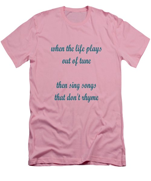 Out Of Tune Pink Men's T-Shirt (Athletic Fit)