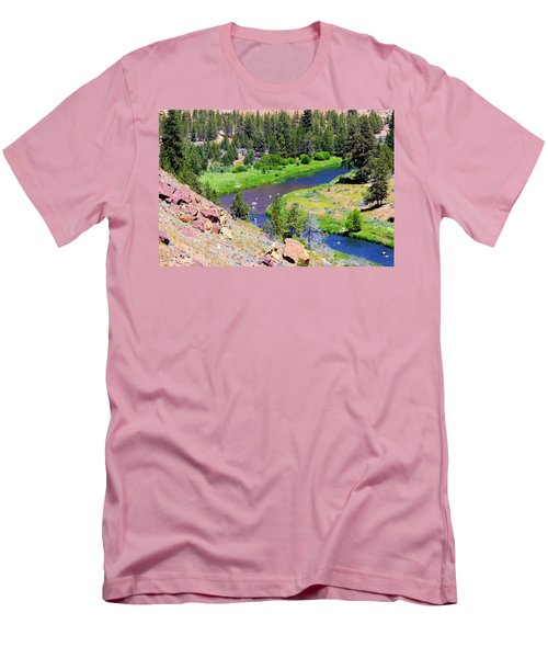 Men's T-Shirt (Athletic Fit) featuring the photograph Painted River by Jonny D