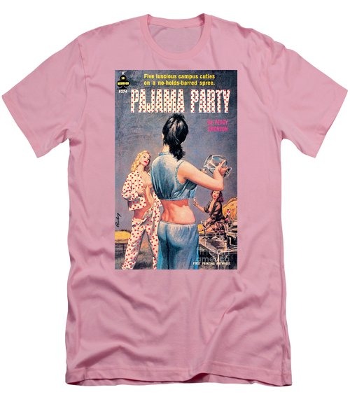 Men's T-Shirt (Slim Fit) featuring the painting Pajama Party by Paul Rader