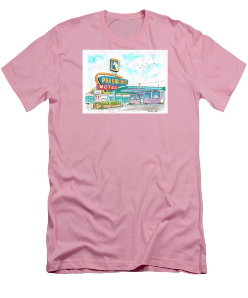 Palomino Motel In Route 66, Tucumcari, New Mexico Men's T-Shirt (Slim Fit) by Carlos G Groppa