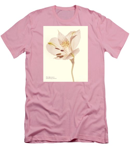 Men's T-Shirt (Athletic Fit) featuring the photograph Pasae Alstroemeria By Flower Photographer David Perry Lawrence by David Perry Lawrence
