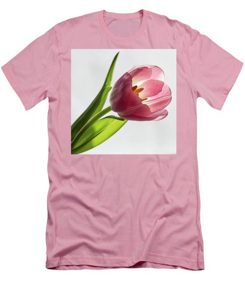 Pastel Pink Men's T-Shirt (Athletic Fit)