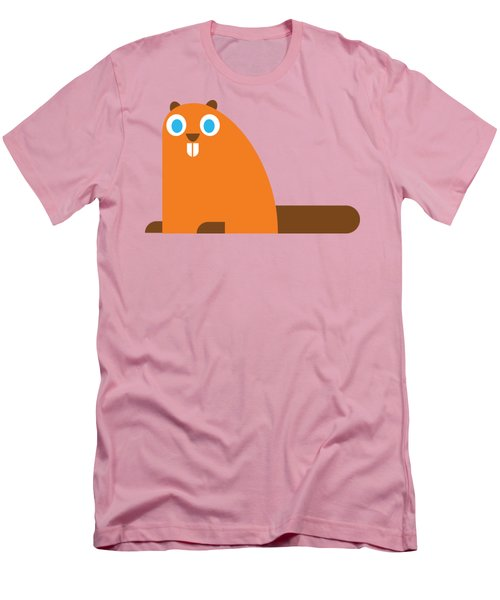 Pbs Kids Beaver Men's T-Shirt (Slim Fit) by Pbs Kids