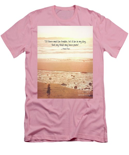 Men's T-Shirt (Athletic Fit) featuring the photograph Peace by Peggy Hughes