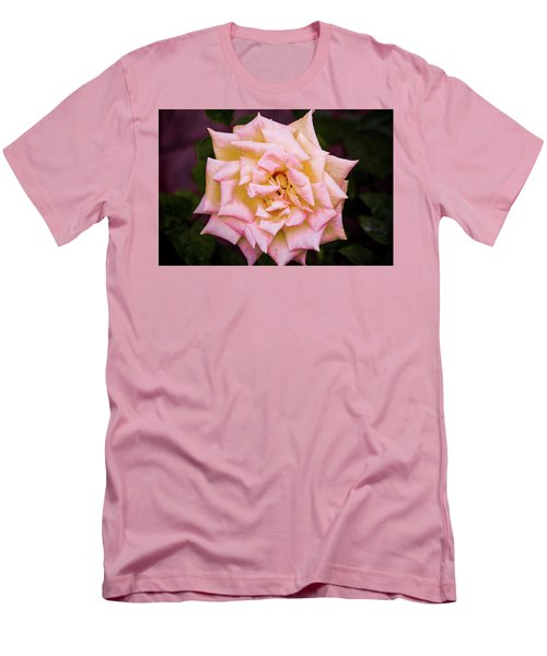 Men's T-Shirt (Slim Fit) featuring the photograph Peace Rose by Donna G Smith