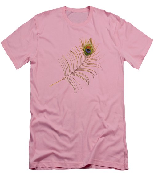 Peacock Feather Men's T-Shirt (Slim Fit) by Bradford Martin