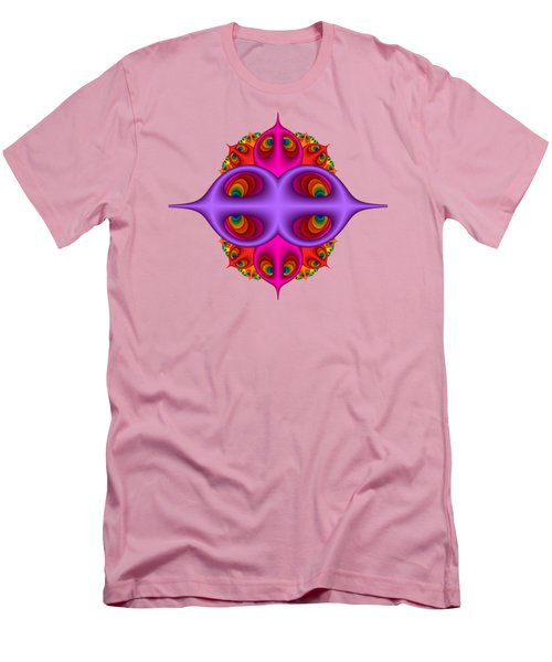 Peacock Peebles Fractal Men's T-Shirt (Athletic Fit)