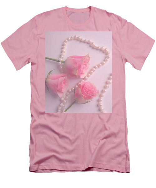 Pearls And Roses Men's T-Shirt (Athletic Fit)