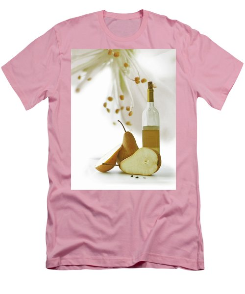 Pears Blossom Men's T-Shirt (Slim Fit) by Ann Lauwers