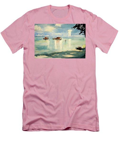 Penang Beach Men's T-Shirt (Athletic Fit)