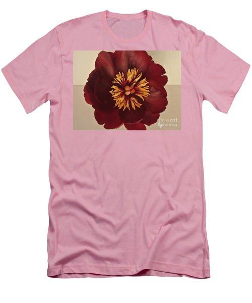 Penny Peony Men's T-Shirt (Slim Fit) by Marsha Heiken