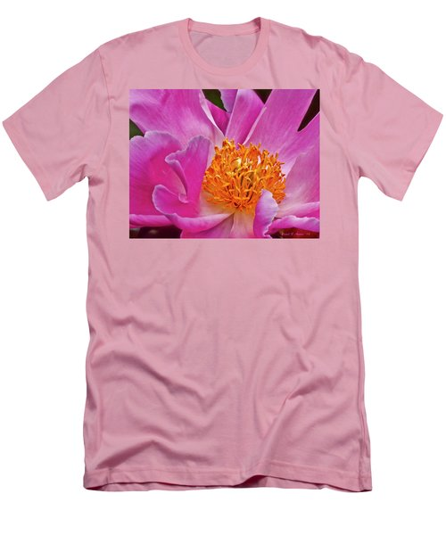 Pink Flower Peony Garden Wall Art Men's T-Shirt (Athletic Fit)