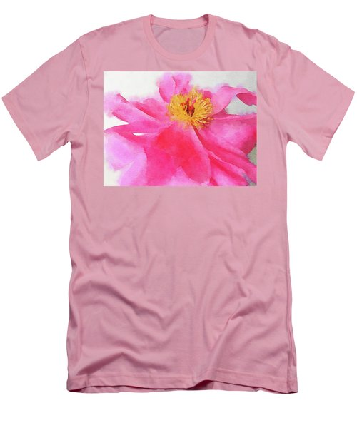 Men's T-Shirt (Slim Fit) featuring the digital art Peony by Mark Greenberg