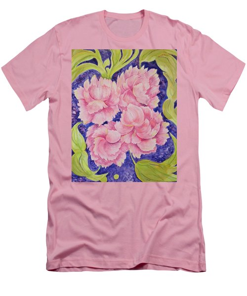 Men's T-Shirt (Athletic Fit) featuring the painting Peony Passion by Michele Myers