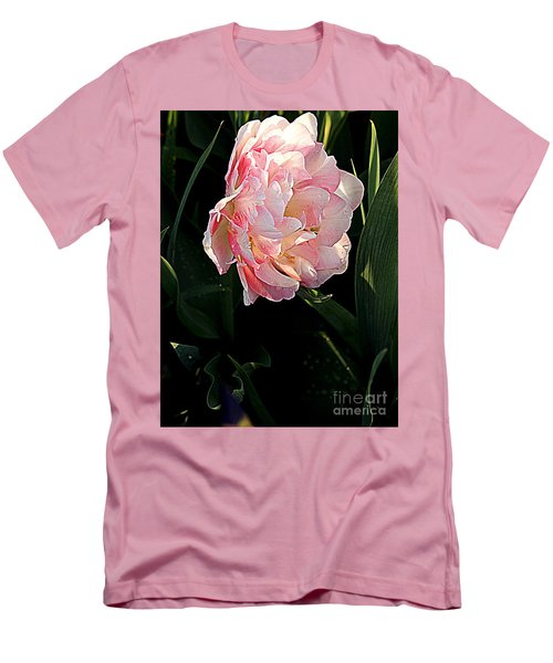 Men's T-Shirt (Slim Fit) featuring the photograph Peony Tulip by Nancy Kane Chapman