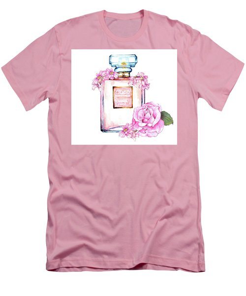 Perfume Florals Men's T-Shirt (Athletic Fit)