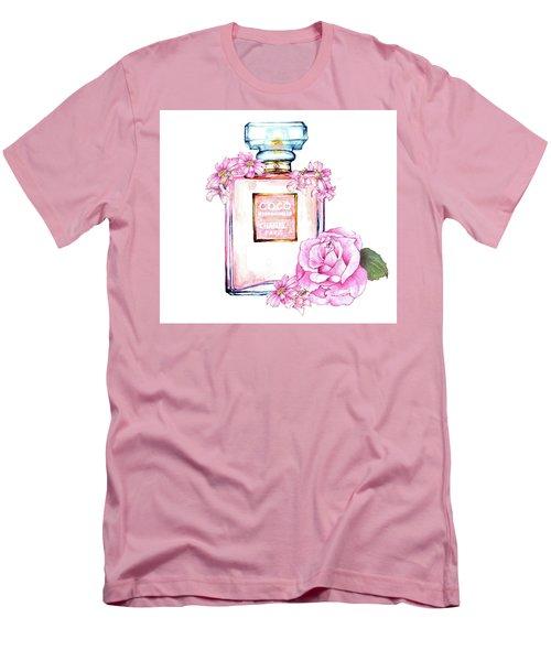 Perfume Florals Men's T-Shirt (Athletic Fit)