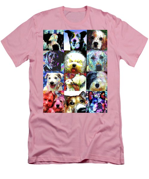 Pet Portraits Men's T-Shirt (Slim Fit) by Alene Sirott-Cope