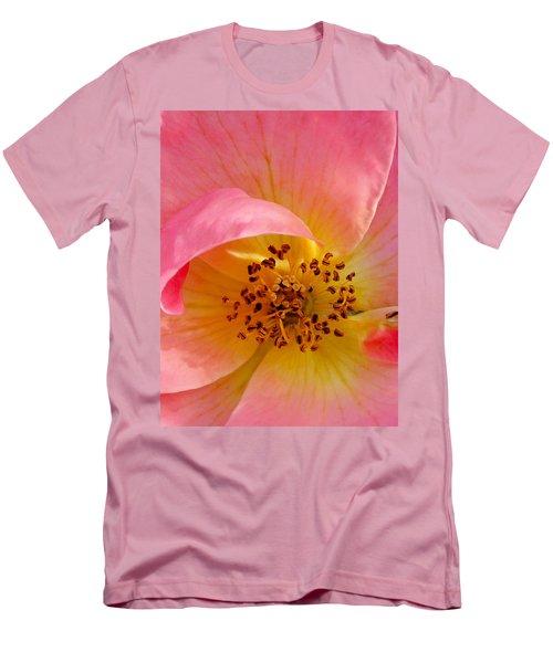 Petal Pink Men's T-Shirt (Slim Fit) by Geri Glavis
