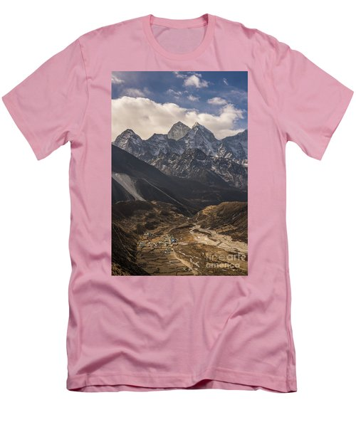 Men's T-Shirt (Slim Fit) featuring the photograph Pheriche In The Valley by Mike Reid