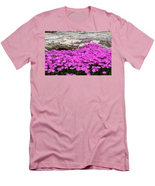 Men's T-Shirt (Slim Fit) featuring the digital art Phlox by Barbara S Nickerson