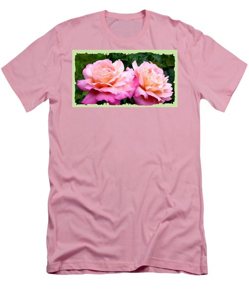 Men's T-Shirt (Slim Fit) featuring the photograph Photogenic Peace Roses by Will Borden