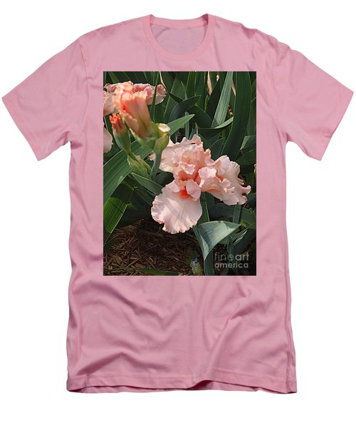 Men's T-Shirt (Slim Fit) featuring the photograph Picture Peach by Nancy Kane Chapman