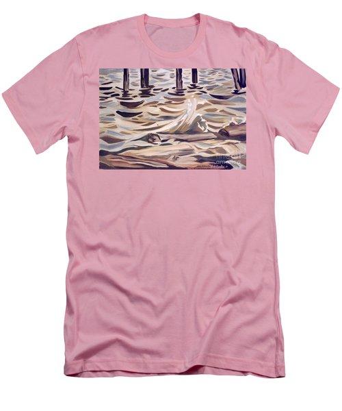 Pier At Granthams Landing Men's T-Shirt (Athletic Fit)