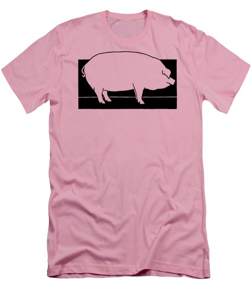 Pig - T Shirt Pig Men's T-Shirt (Slim Fit) by rd Erickson