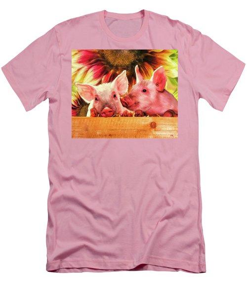 Piglet Playmates Men's T-Shirt (Athletic Fit)