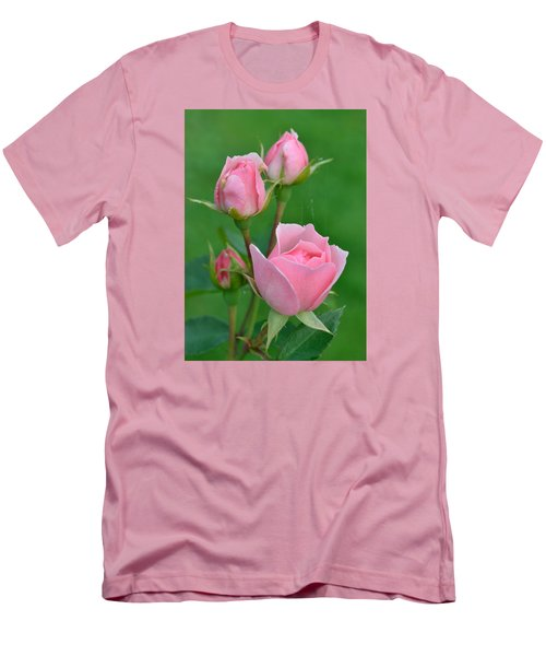 Pink And The Buds Men's T-Shirt (Slim Fit) by Janet Rockburn