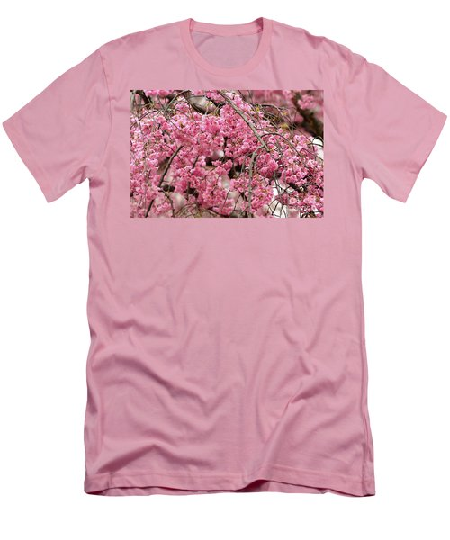 Pink Cherry Blossom Japan Arashayama Spring Holiday Diaries Men's T-Shirt (Athletic Fit)