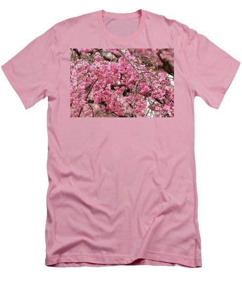 Pink Cherry Blossom Japan Arashayama Spring Holiday Diaries Men's T-Shirt (Slim Fit)