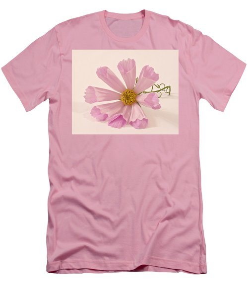 Pink Cosmo - Sea Shell Macro Men's T-Shirt (Slim Fit) by Sandra Foster