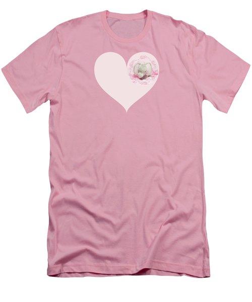 Pink Elephant Men's T-Shirt (Slim Fit) by Terri Waters