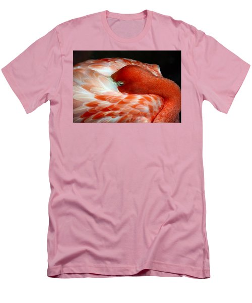 Pink Flamingo Men's T-Shirt (Slim Fit) by Inspirational Photo Creations Audrey Woods