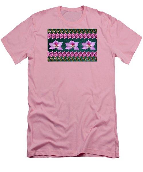 Men's T-Shirt (Slim Fit) featuring the photograph Pink Flower Arrangement by Gary Crockett