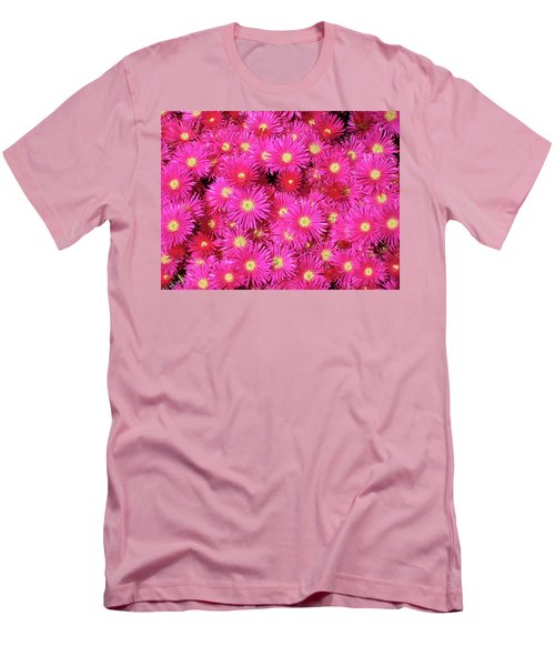 Pink Flower Explosion Men's T-Shirt (Slim Fit)