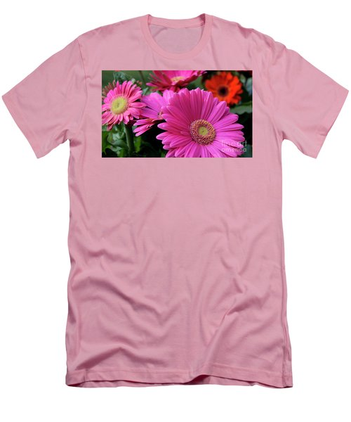 Men's T-Shirt (Slim Fit) featuring the photograph Pink Flowers by Brian Jones