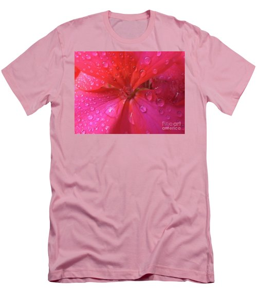 Pink Geranium Men's T-Shirt (Athletic Fit)