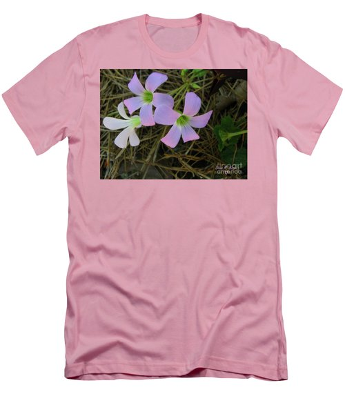 Men's T-Shirt (Slim Fit) featuring the photograph Pink Glow by Donna Brown