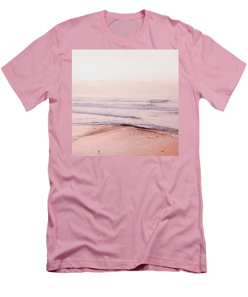 Men's T-Shirt (Slim Fit) featuring the photograph Pink Pacific Beach by Bonnie Bruno