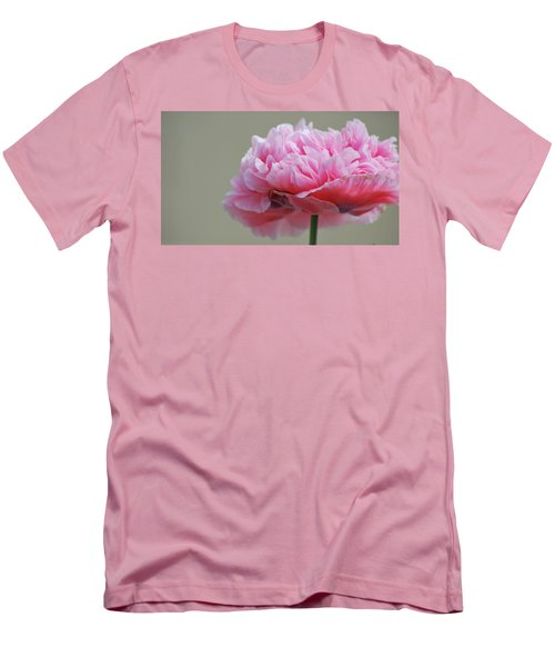Men's T-Shirt (Athletic Fit) featuring the photograph Pink Poppy by Amee Cave